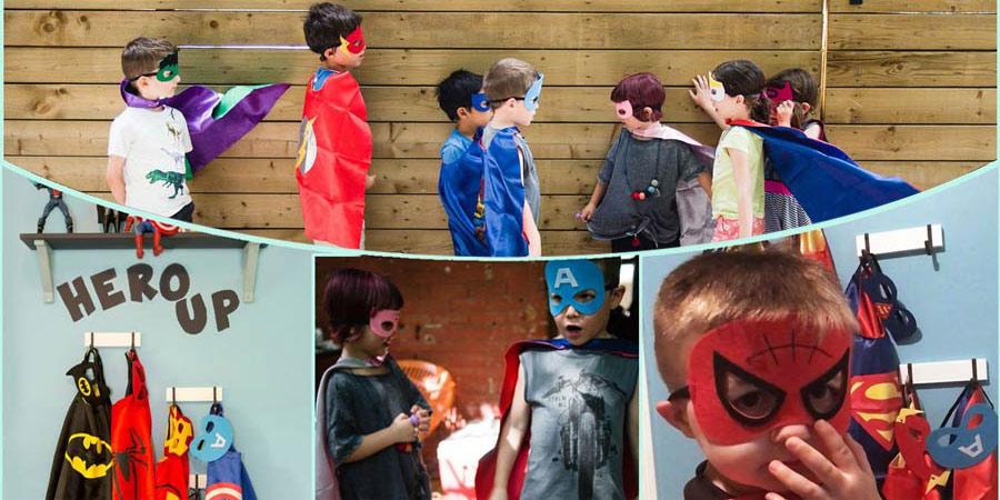 mascaras economicas de superheroes niños