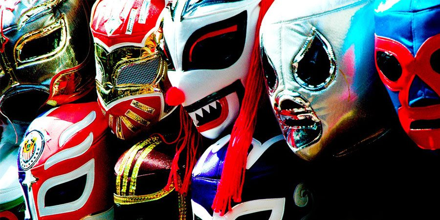 mascara de papel de luchador