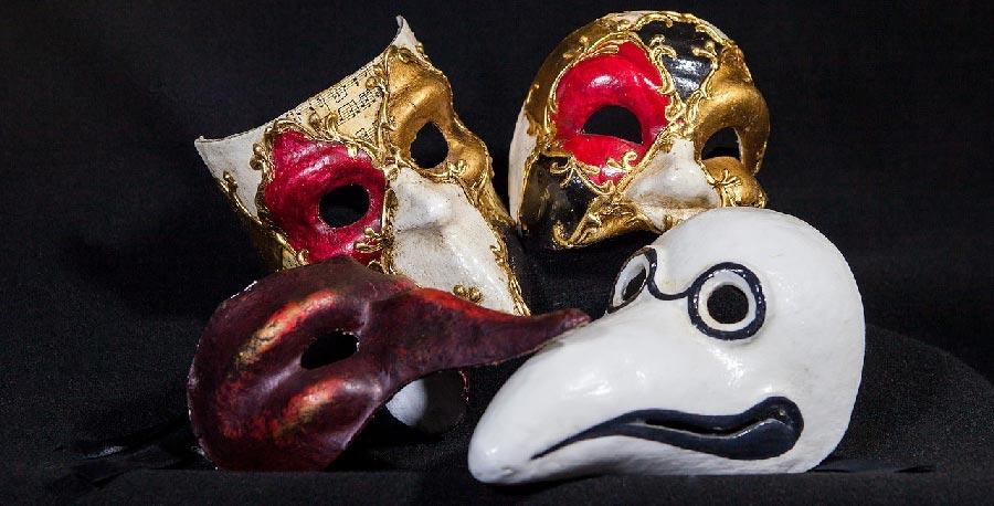 mascaras venecianas de papel mache