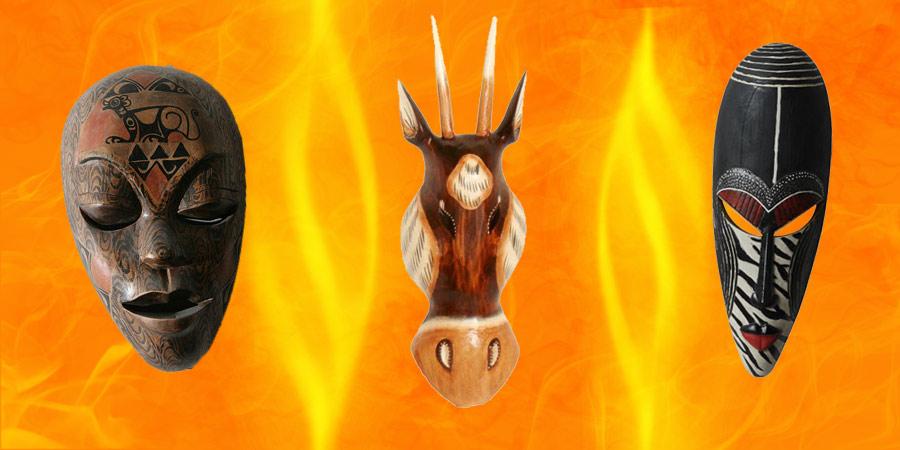 Máscaras Africanas Decoración Carnaval Mejores Precios Online